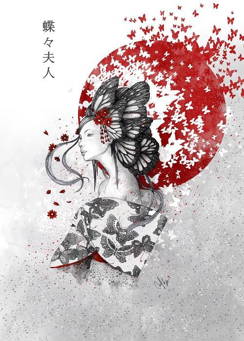 japanese woman illustration