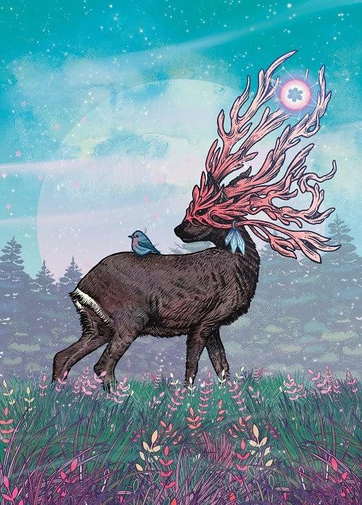 surreal deer illustration