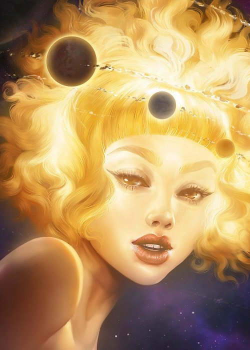 space girl illustration