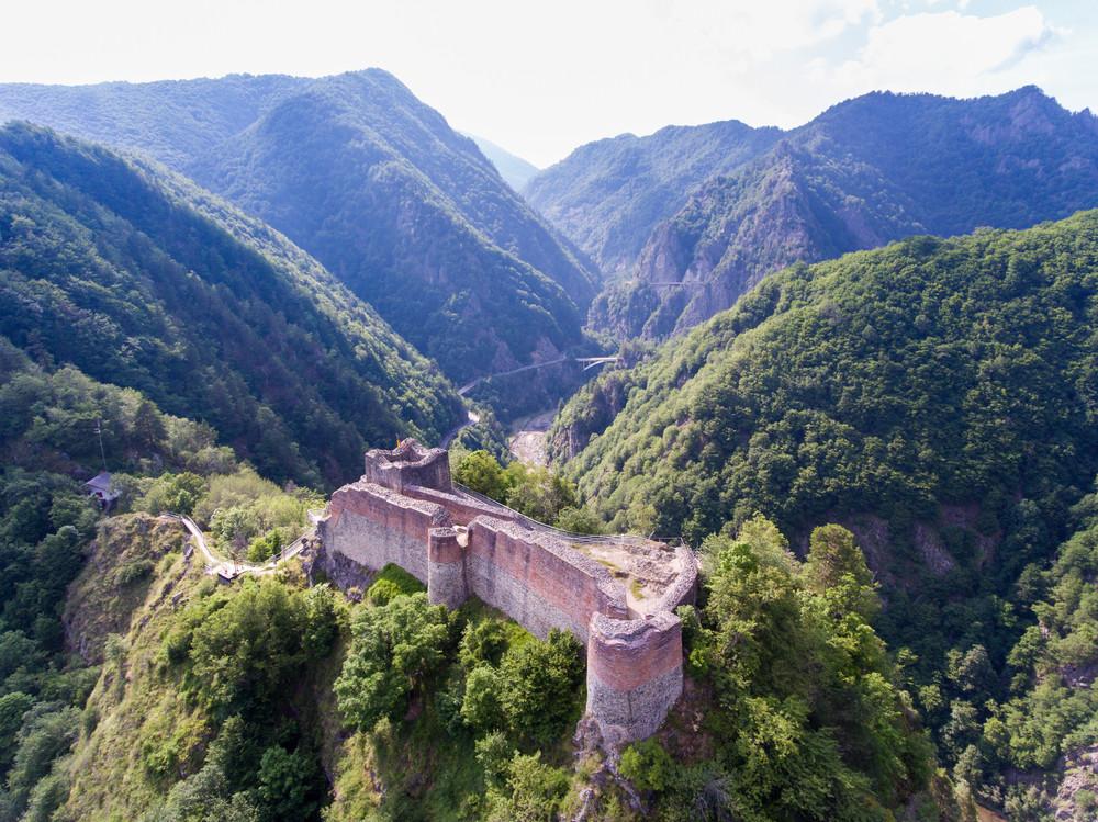 Poenari Castle on the hills