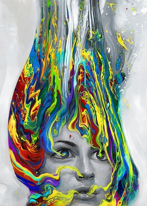 psychedelic woman poster