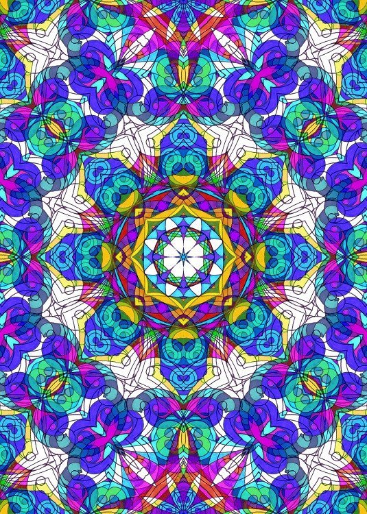 floral psychedelic illustration