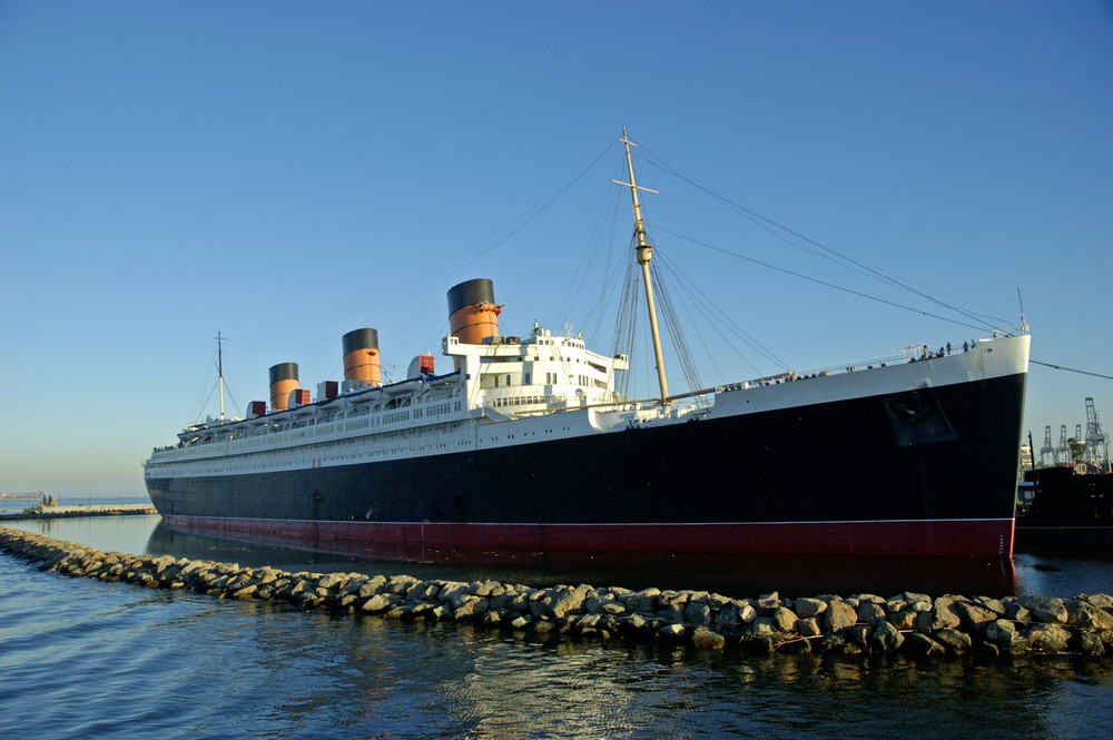 The Queen Mary Hotel in the port