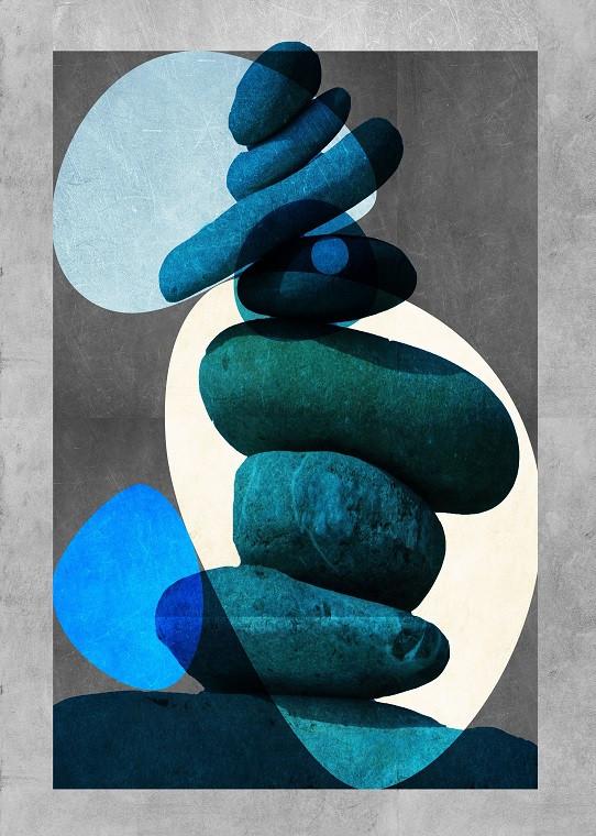 blue rocks illustration