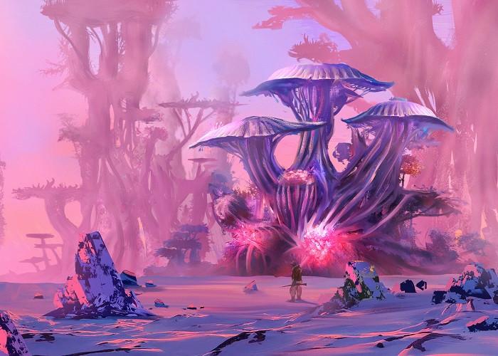 alien pink planet