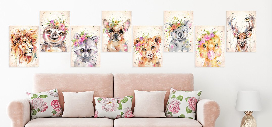 watercolor animals collection