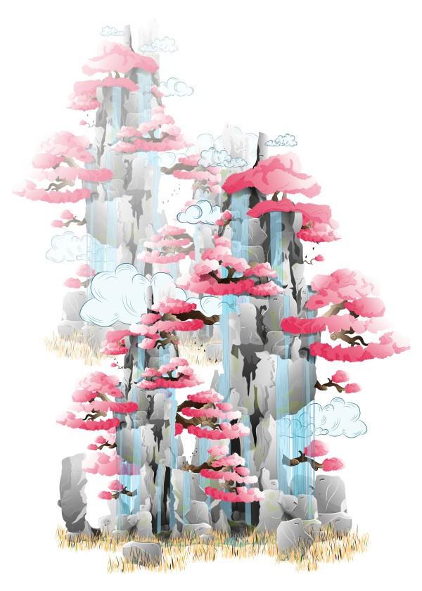 spring-design-art-floral-trees