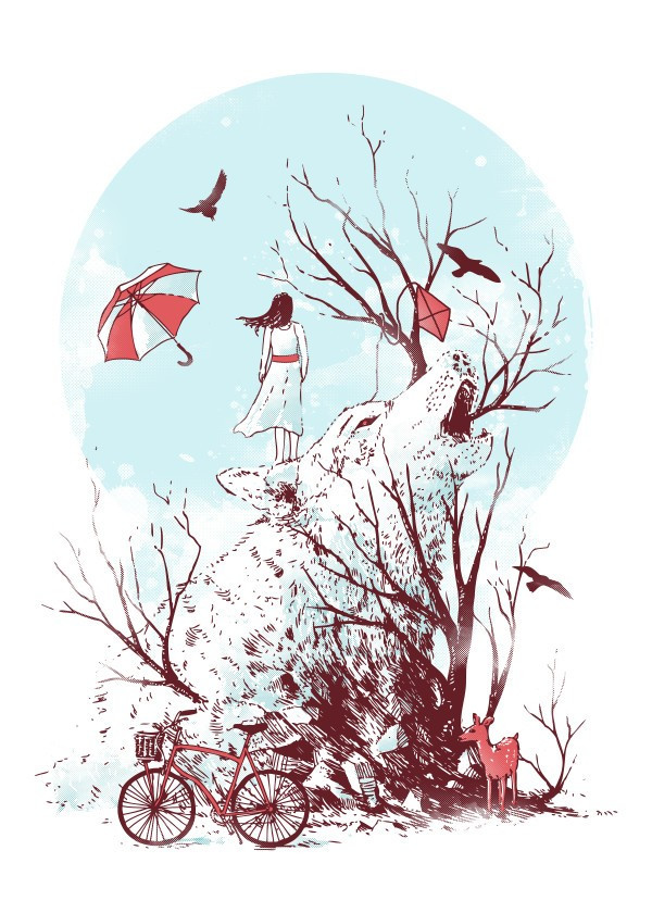spring-design-illustration-women-art