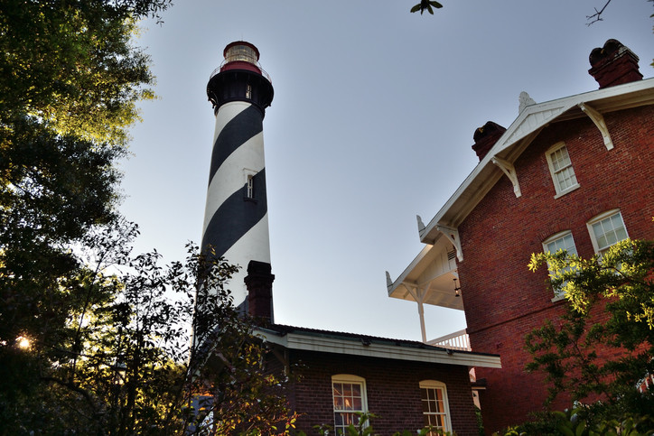 St Augustine's Lighthouse down view