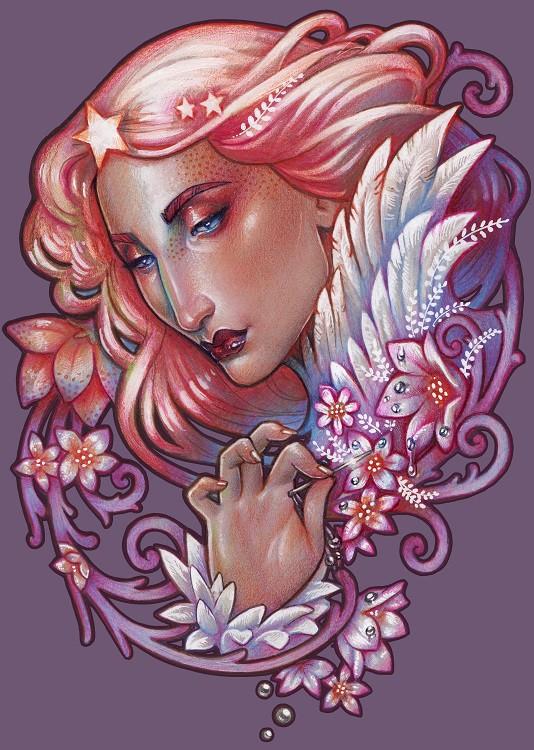 Medusa Dollmaker - Art nouveau allegory of the Morning Star
