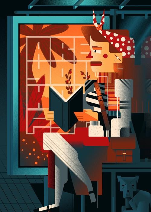cubism cartoon illustration