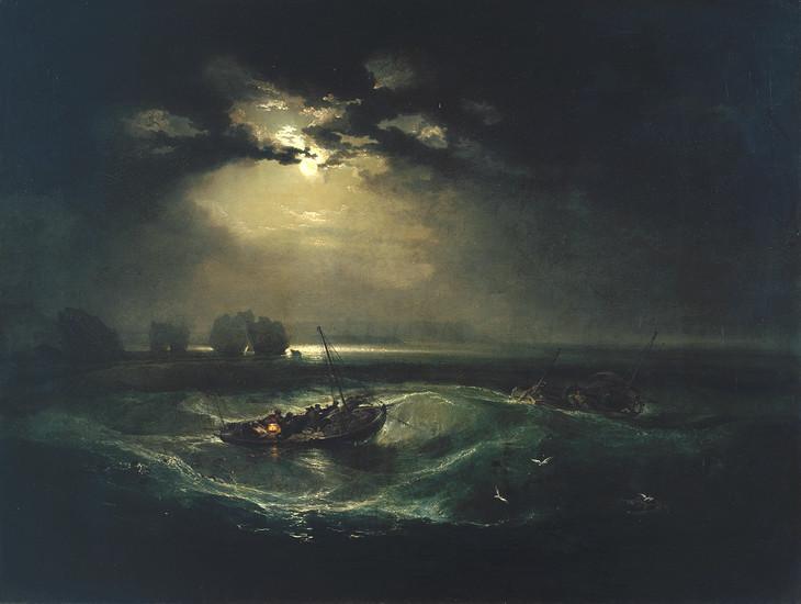 Fishermen at Sea  by William Turner