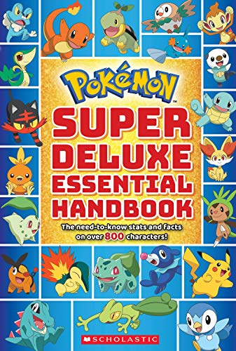 'Super Deluxe Essential Handbook (Pokémon): The Need-to-Know Stats and Facts on Over 800 Characters' book cover