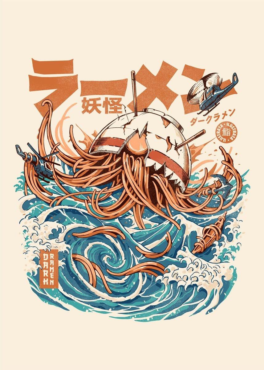 Ramen bowl kaiju attack