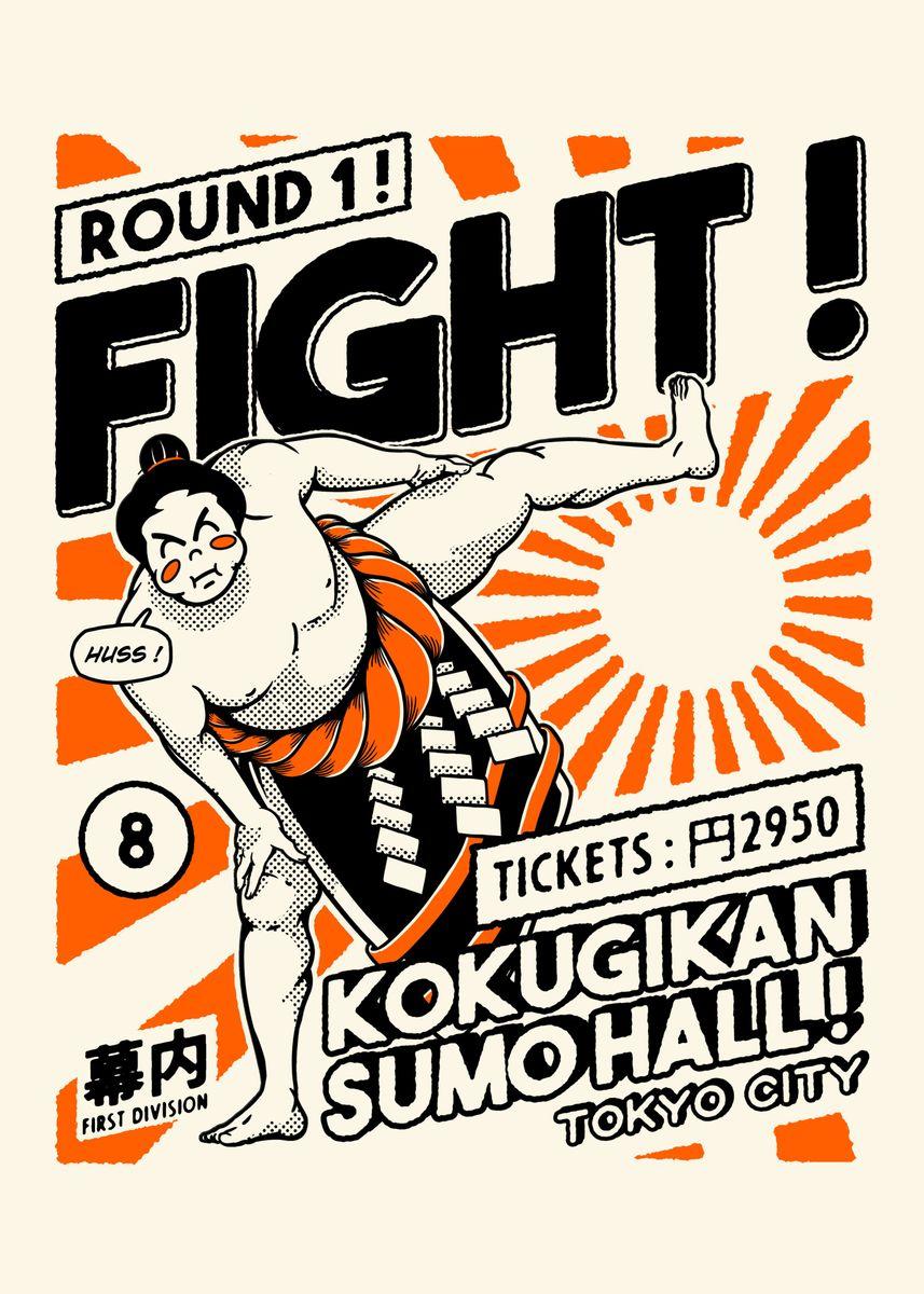 Sumo wrestling poster