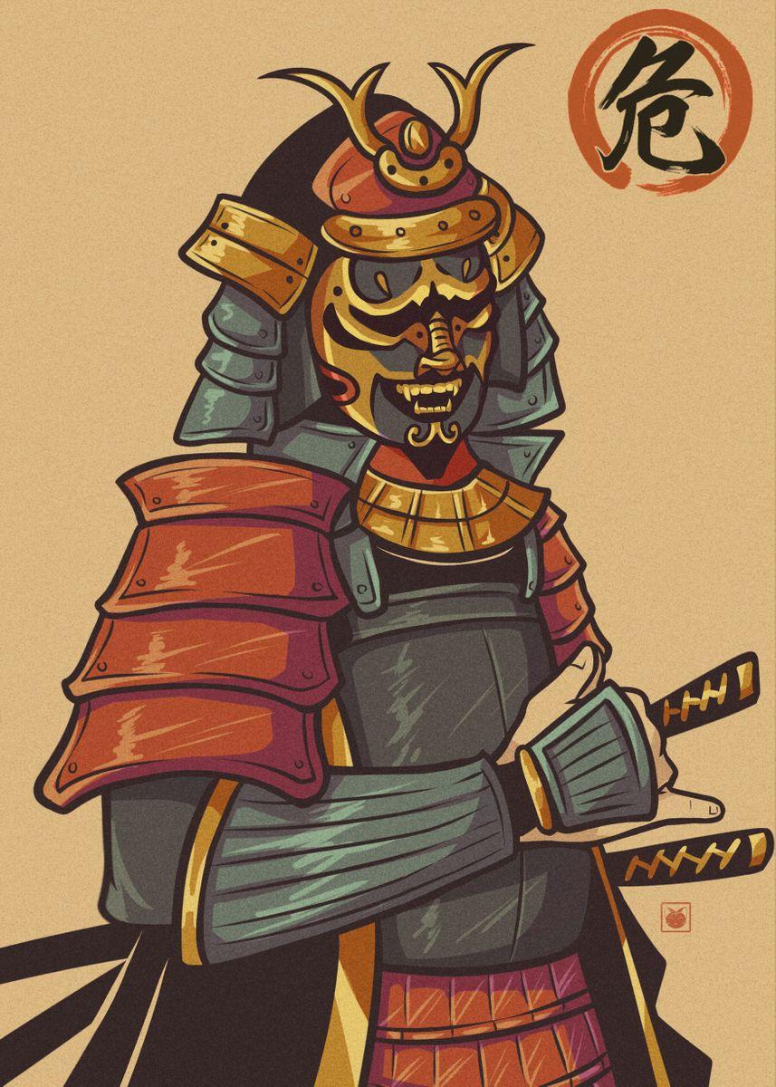Samurai in traditional armor