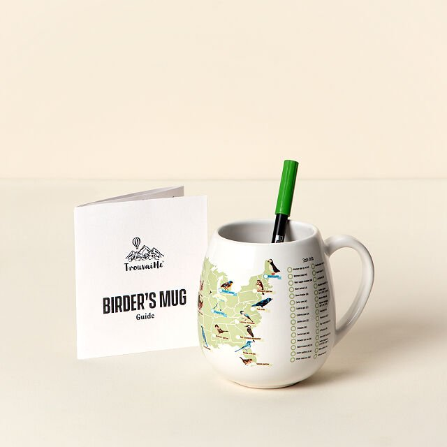 Birder's checklist mug