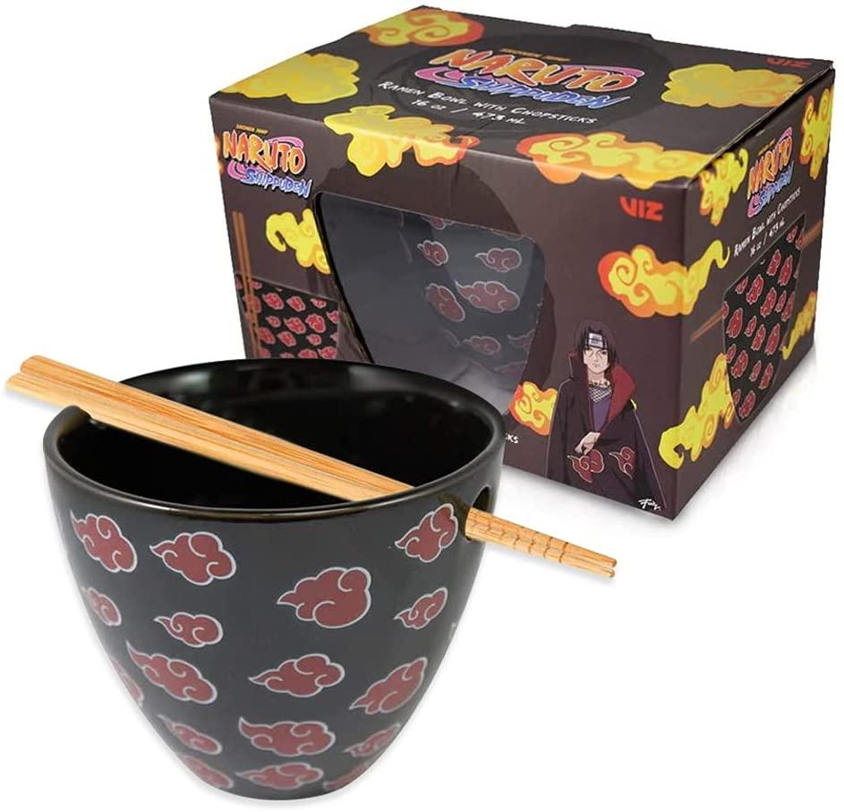 Naruto ramen rice soup bowl with chopsticks