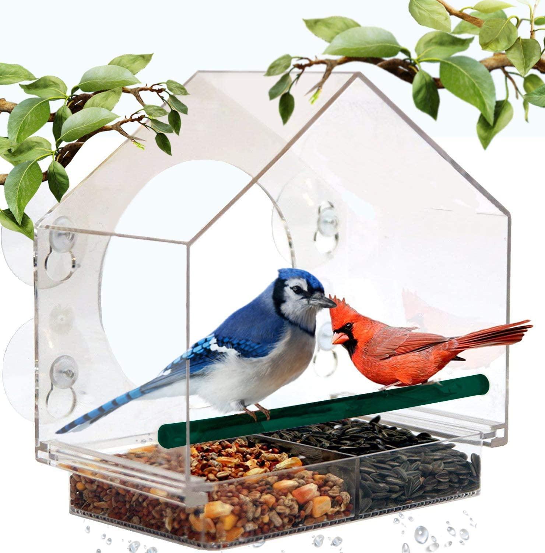 Mrcrafts window bird feeder for outside