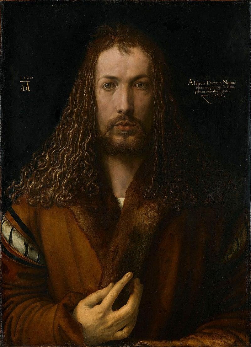 Self-Portrait at the Age of Twenty Eight by Albrecht Dürer