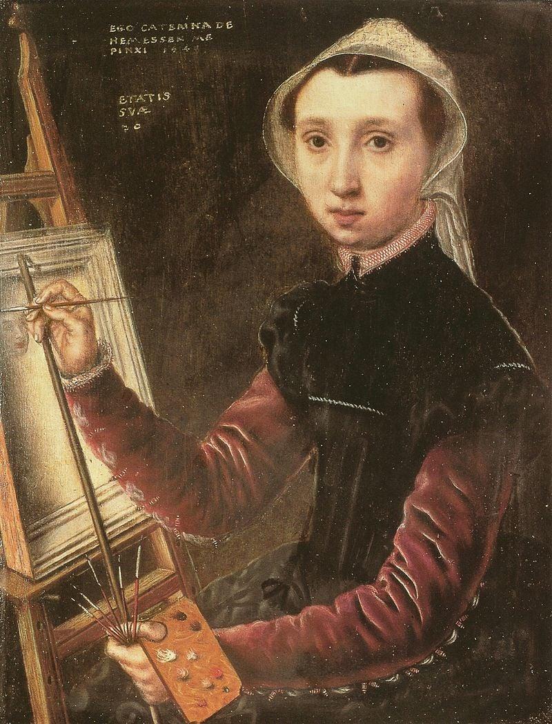 1548 Self-Portrait by Caterina van Hemessen