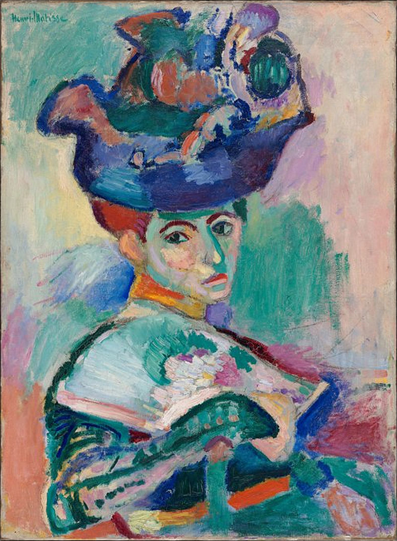 Woman with a Hat by Henri Matisse