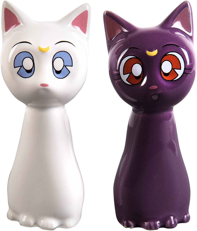 Sailor Moon ceramic salt and pepper shakers