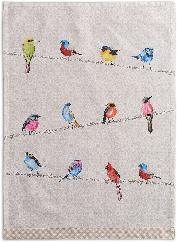 'Birdies on a wire' kitchen towel
