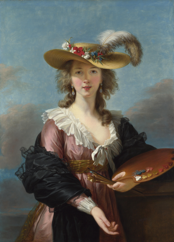 Self Portrait in a Straw Hat by Louise Elisabeth Vigée Le Brun