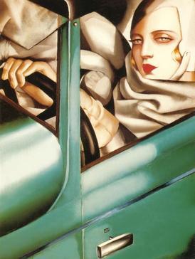 Self-Portrait (Tamara in a Green Bugatti) Tamara De Lempicka
