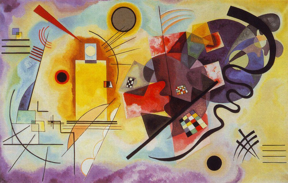 Yellow-Red-Blue by Wassily Kandinsky
