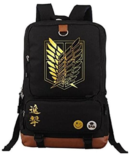 Attack On Titan black school bag