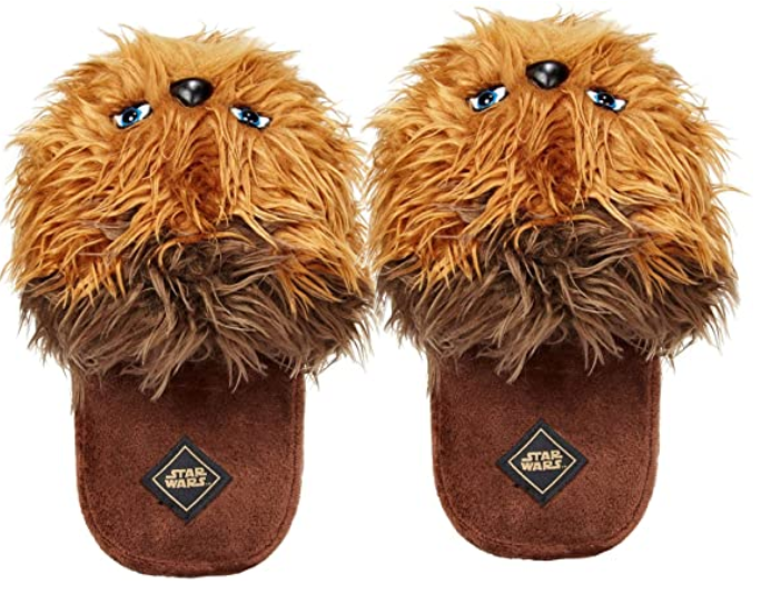 Chewbacca men's plush slippers