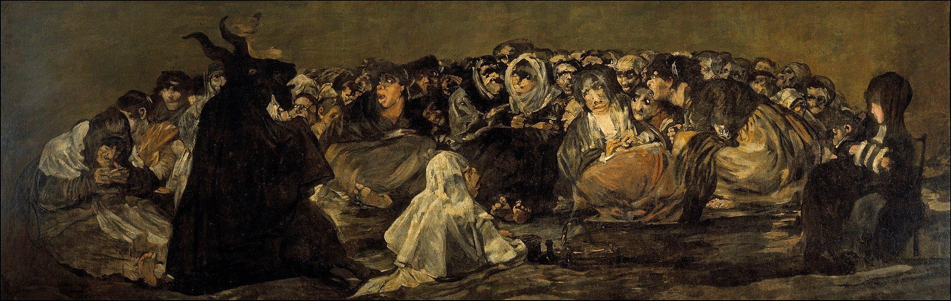 Aquelarre painting by Francisco Goya