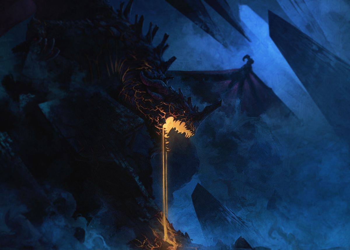 Dragon Lava Poster