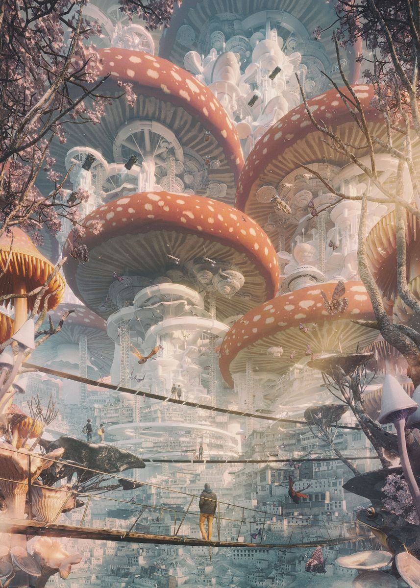 Shroom Cities Poster