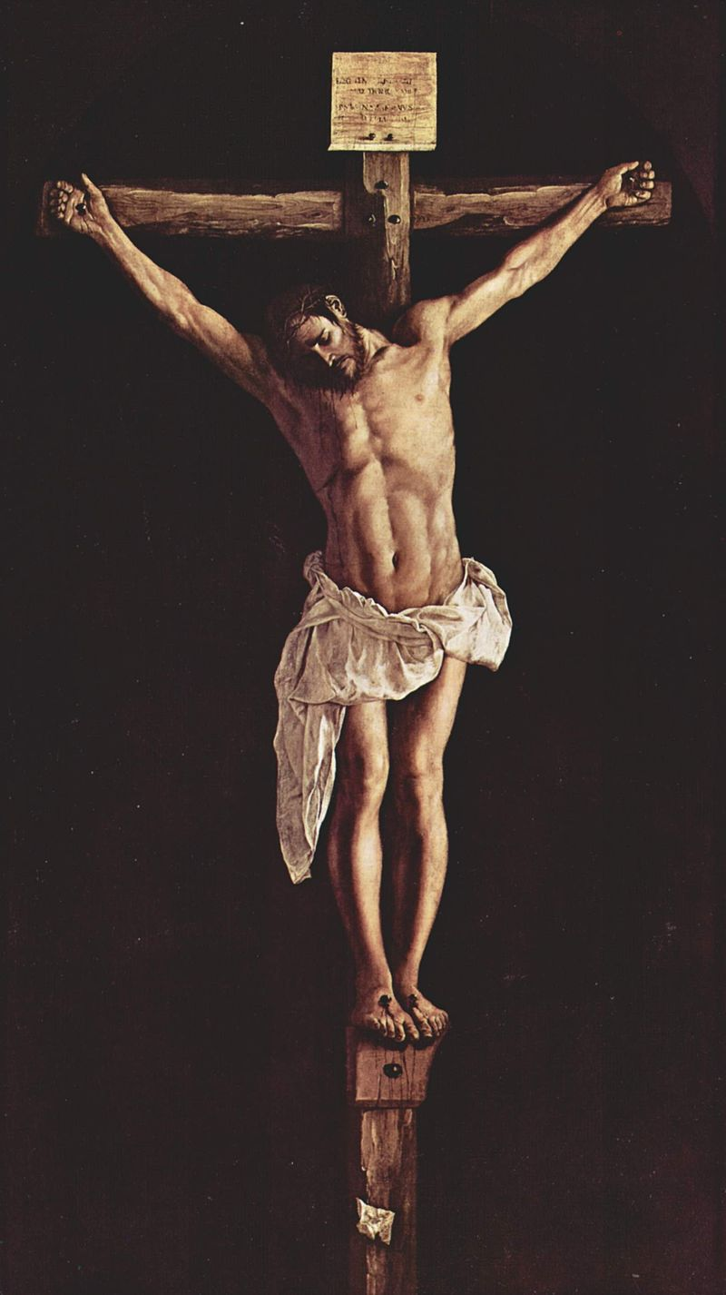 Christ on the Cross painting by Francisco de Zurbarán