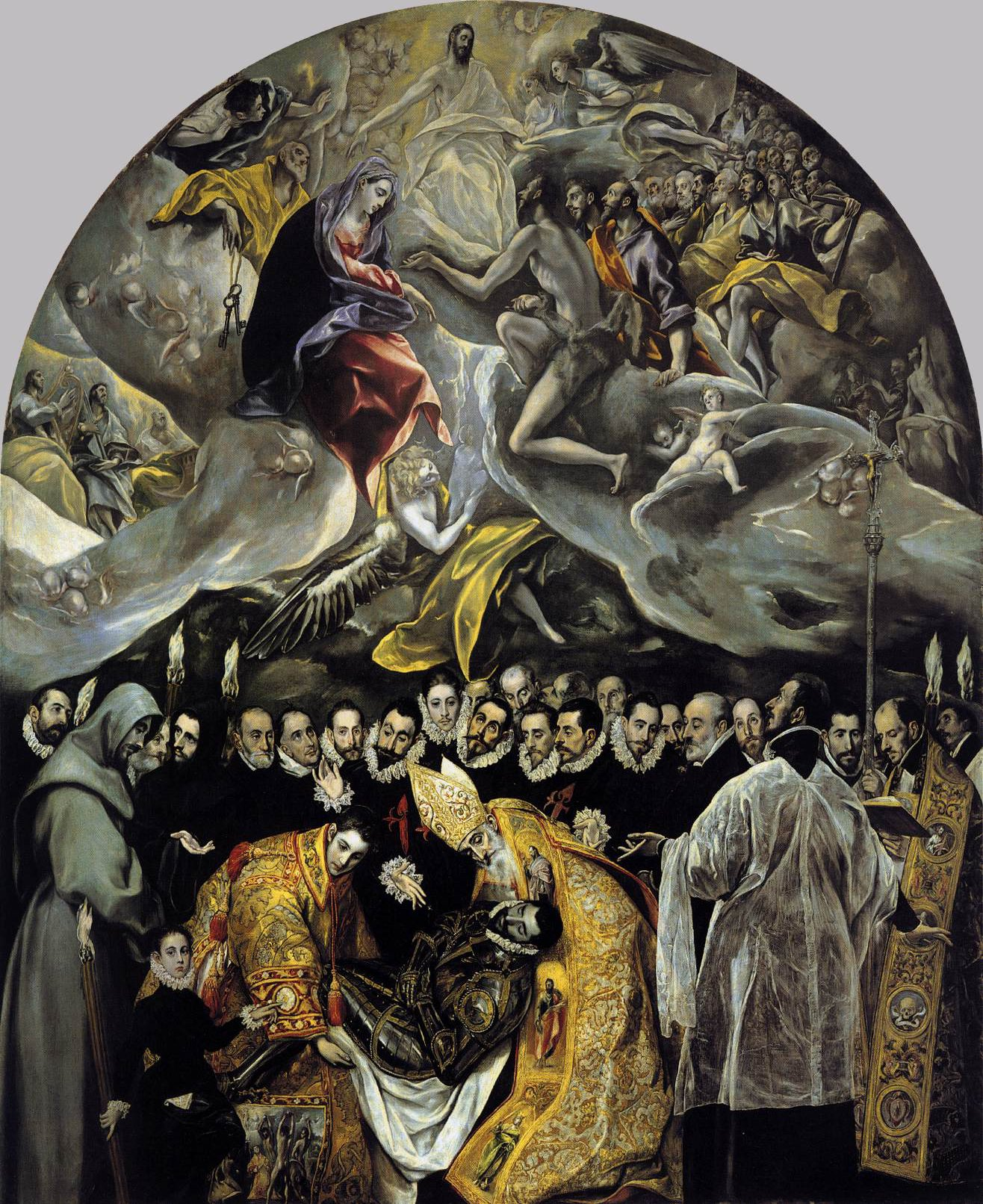 The Burial of the Count of Orgaz painting by El Greco