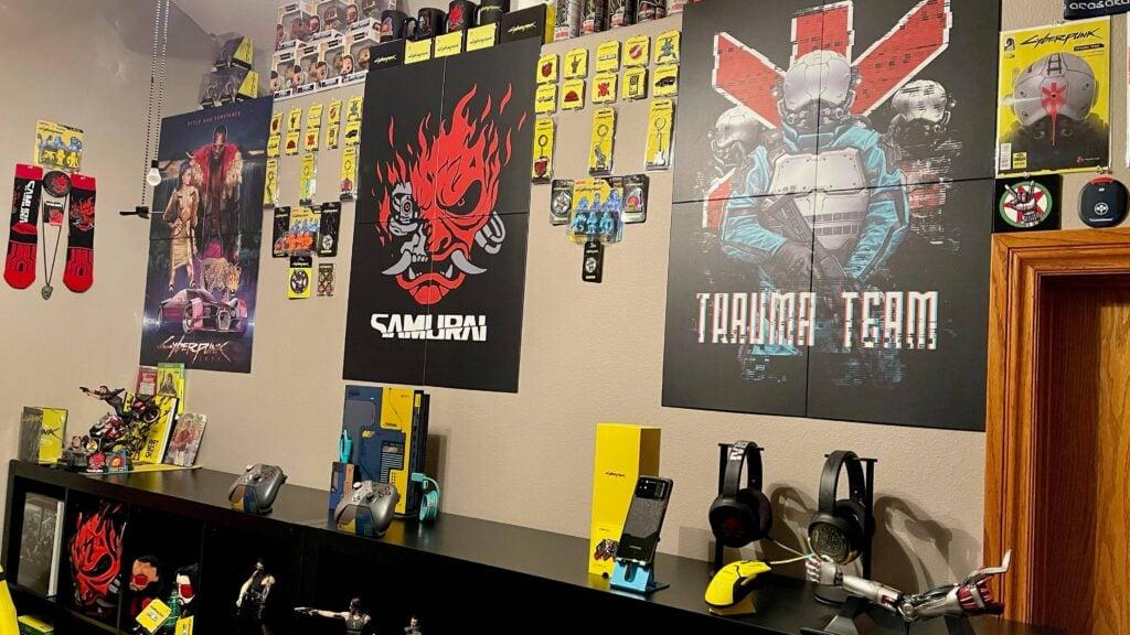 Cyberpunk Gaming Room Idea
