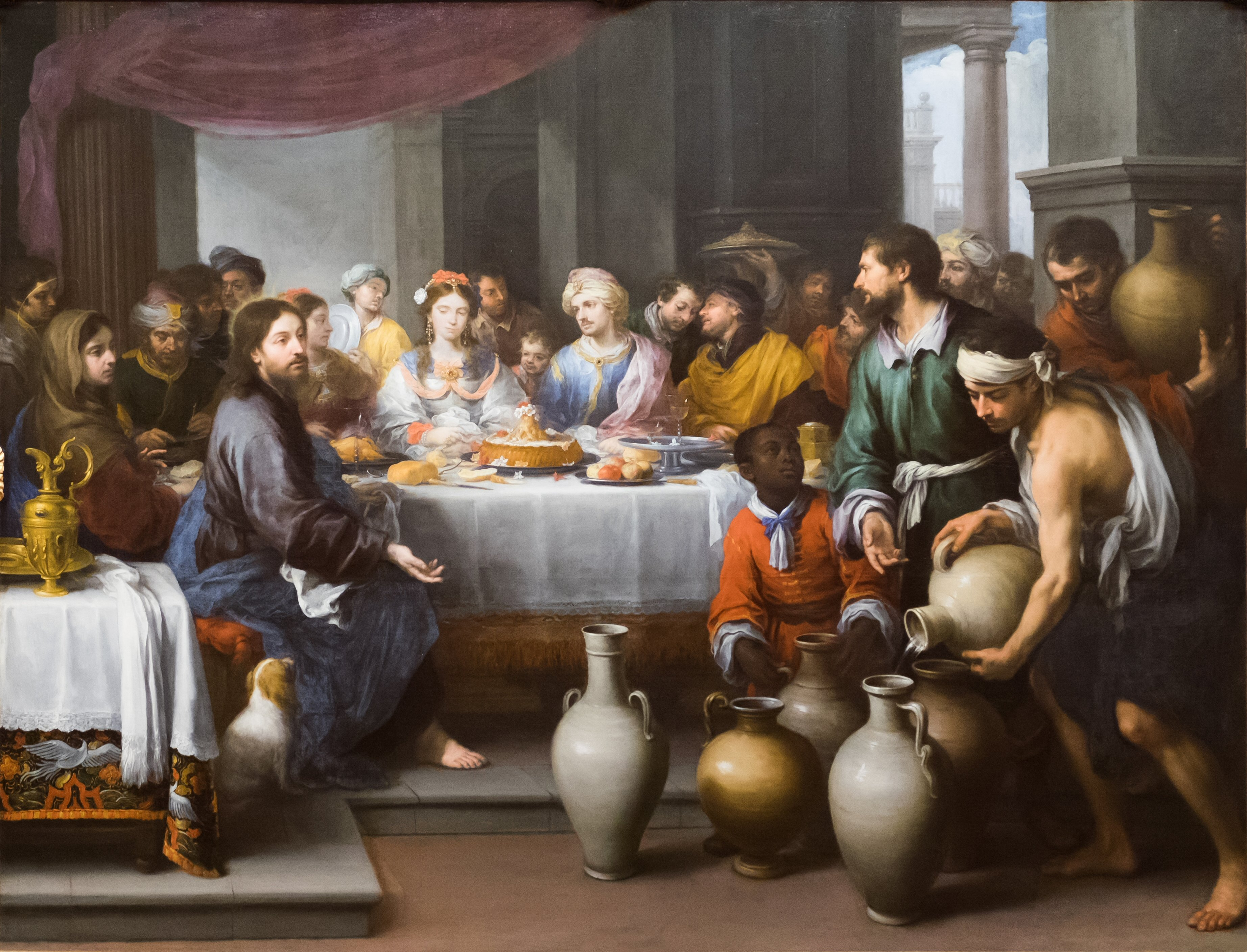 The Marriage Feast at Cana painting by Bartolomé Esteban Murillo