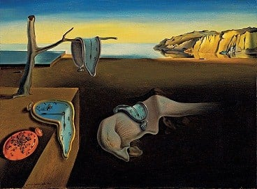 The Persistence of Memory painting by Salvador Dalí
