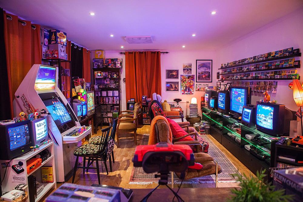 retro gaming room