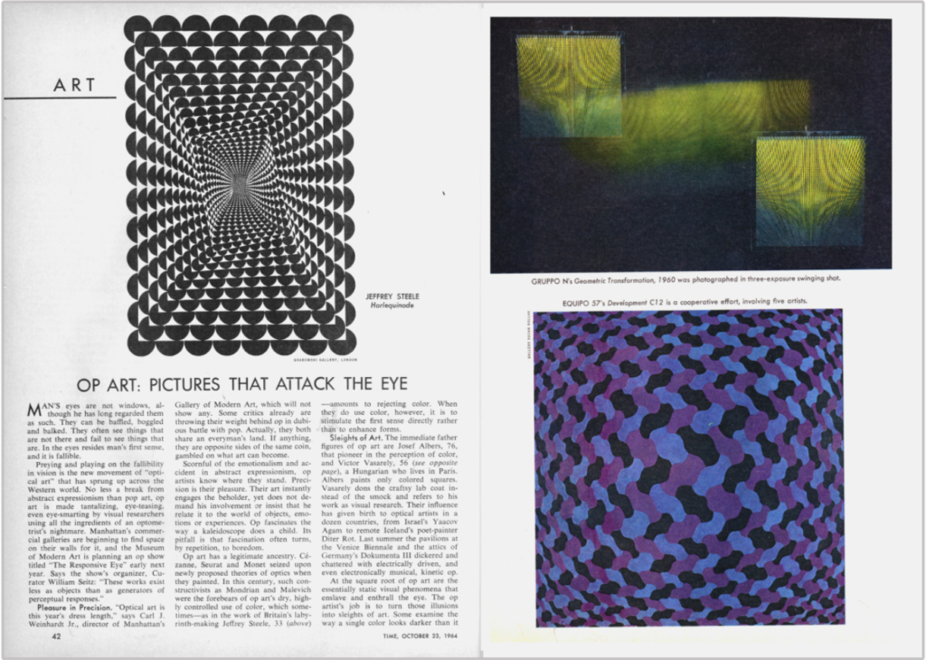 1965 Time feature on Op Art