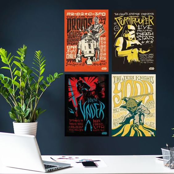Set of four Star Wars posters