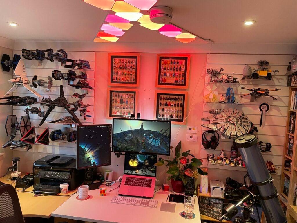 Star Wars gaming setup