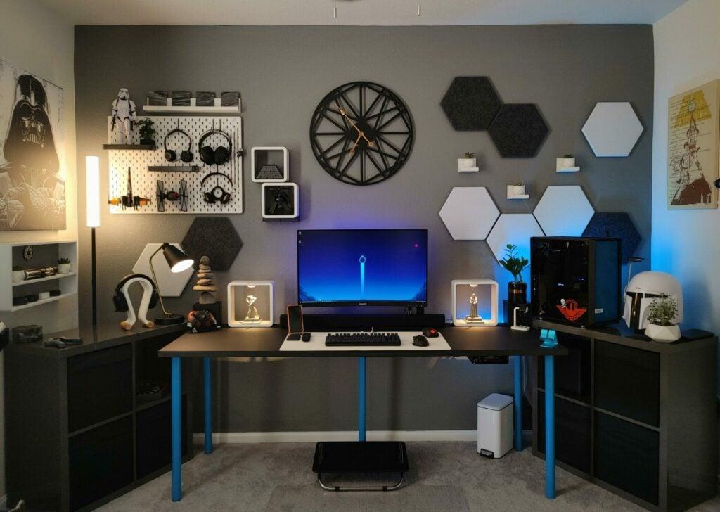 Minimalist Star Wars home office