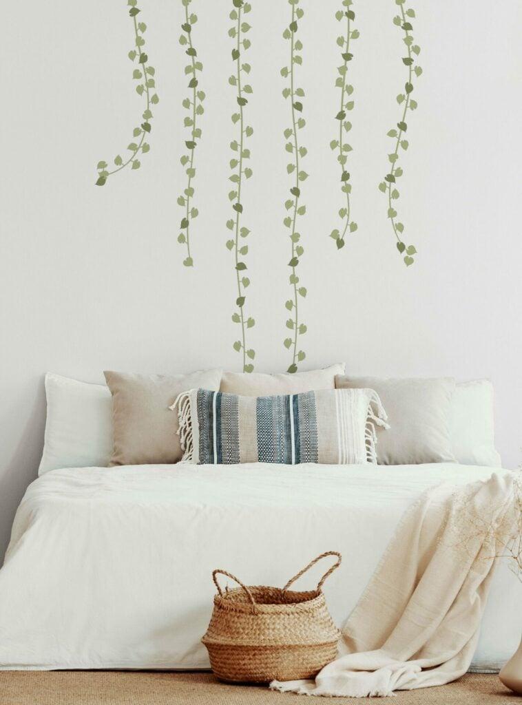 Vine garland wall decal