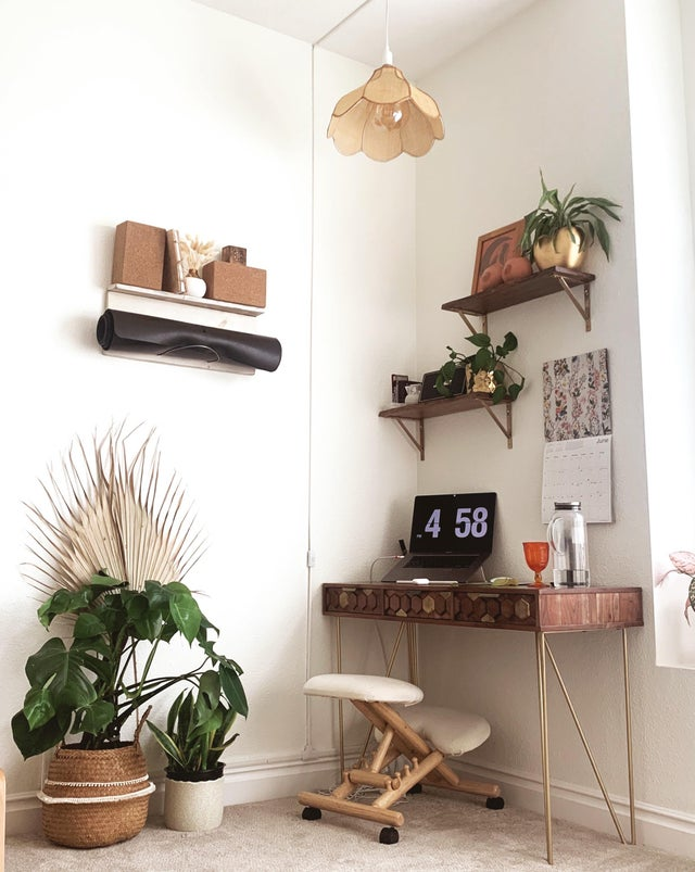 home office and yoga room