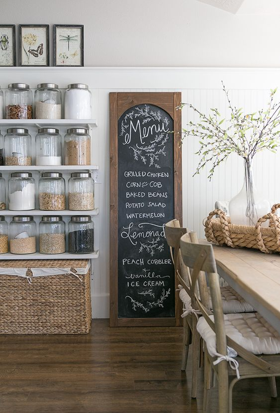 kitchen chalkboard menu