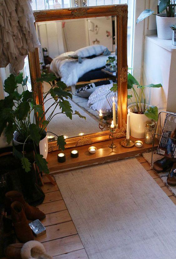 bedroom yoga corner